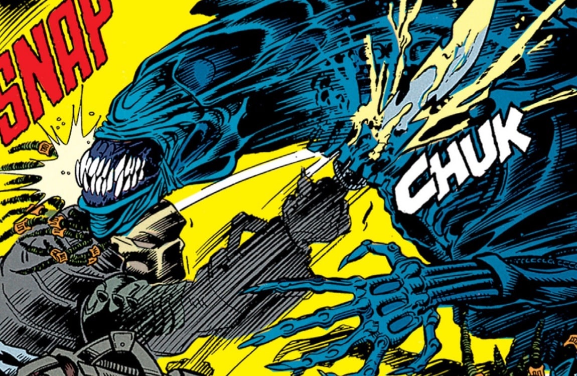 Dachande vs. Ryhushi Queen from the first Aliens vs. Predator comic series