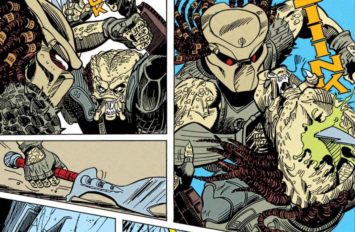 Dachande vs. Tichinde from the first Aliens vs. Predator comic series