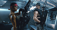 Vasquez in Aliens with smartgun